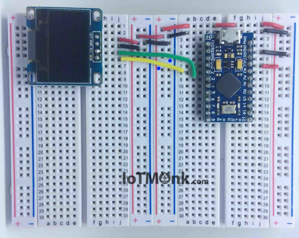 Arduino-Leonardo-Pro-Micro-With-128X64-OLED-Display-Tutorial-On-Breadboard (11)