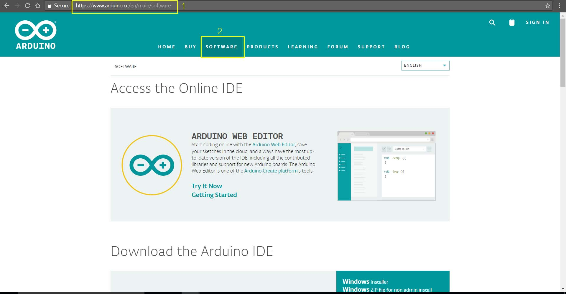 Installing arduino on windows iotmonk