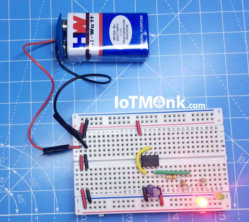 Led Flashing Rail Road Circuit Using 555 Timer Ic Tutorial Iotmonk 28 Clock