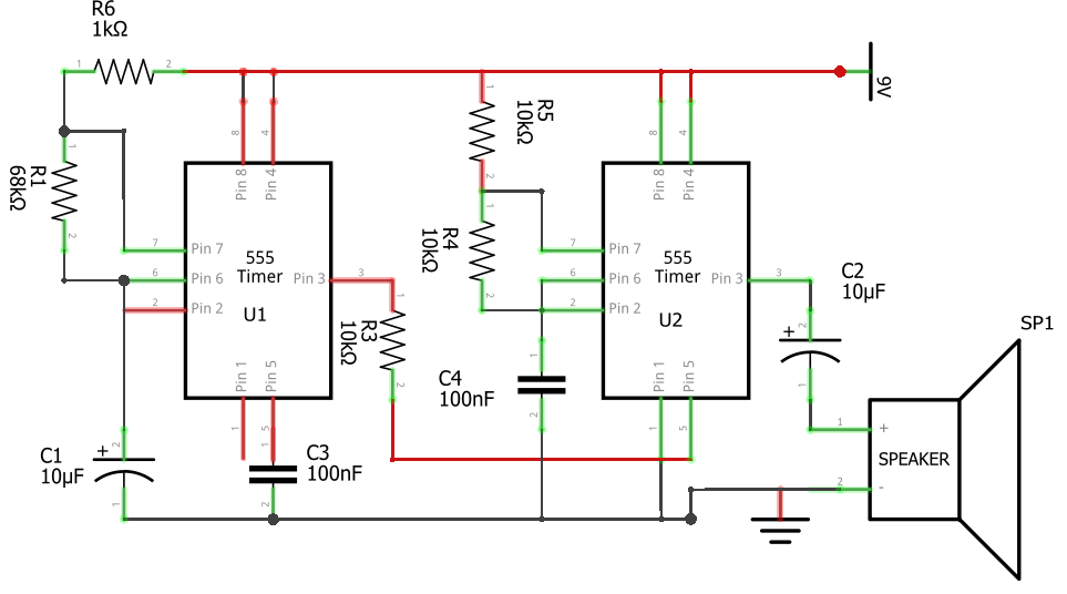 Police Siren Circuit Using 555 Timer Ic Breadboard Tutorial Iotmonkrhiotmonk: Police Siren Wiring Diagram At Gmaili.net