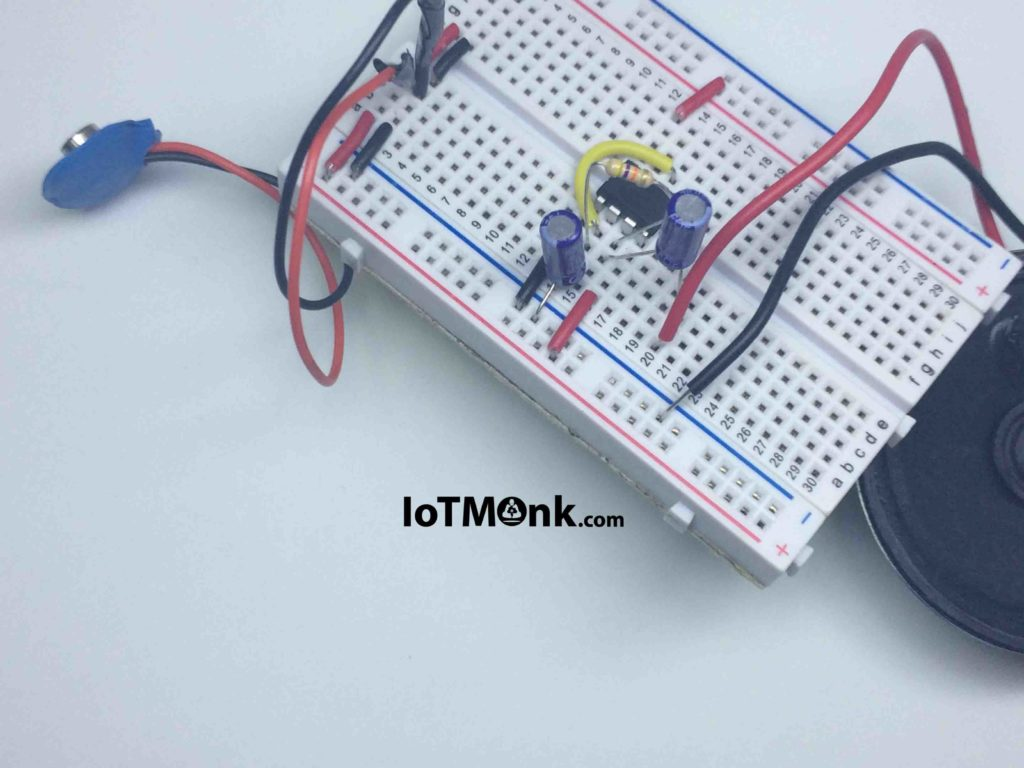 Tick Sound Using 555 Timer Ic Breadboard Tutorial Iotmonk Police Bicycle Siren Circuits Electronic Projects If Can Also Use The Below Images To Cross Check Your Connections Of There Might Be Some Difference In Depending Upon